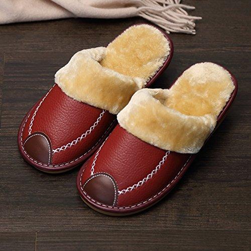 Fankou Indoor pantofole di cotone femmina pacchetto invernale con grazioso personaggio dei fumetti post-pantofole uomini cotone e ,41-42, grigio maschio