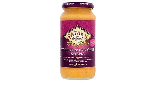 Pataks Yogur Y Salsa De Coco 450G Korma (Paquete de 6): Amazon.es: Alimentación y bebidas