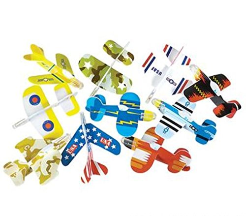 Rhode Island Novelty Foam Glider Assortment Vehicle (Pack of 72) -