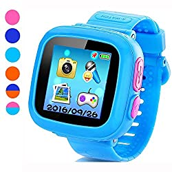 Game Smart Watch for Kids, Children's Camera 1.5 Touch Screen Pedometer 10 Games Timer Alarm Clock Health Monitor Boys Girls Game Watches(Light blue)
