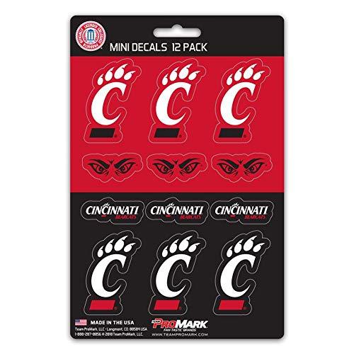NCAA Cincinnati Bearcats Mini Decal (12-Pack), 5, Team Color