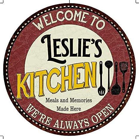 Amazon Com Chico Creek Signs Leslie S Kitchen 12 Round