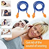 Foxnovo 10 Pairs of Soft Silicone Corded Ear