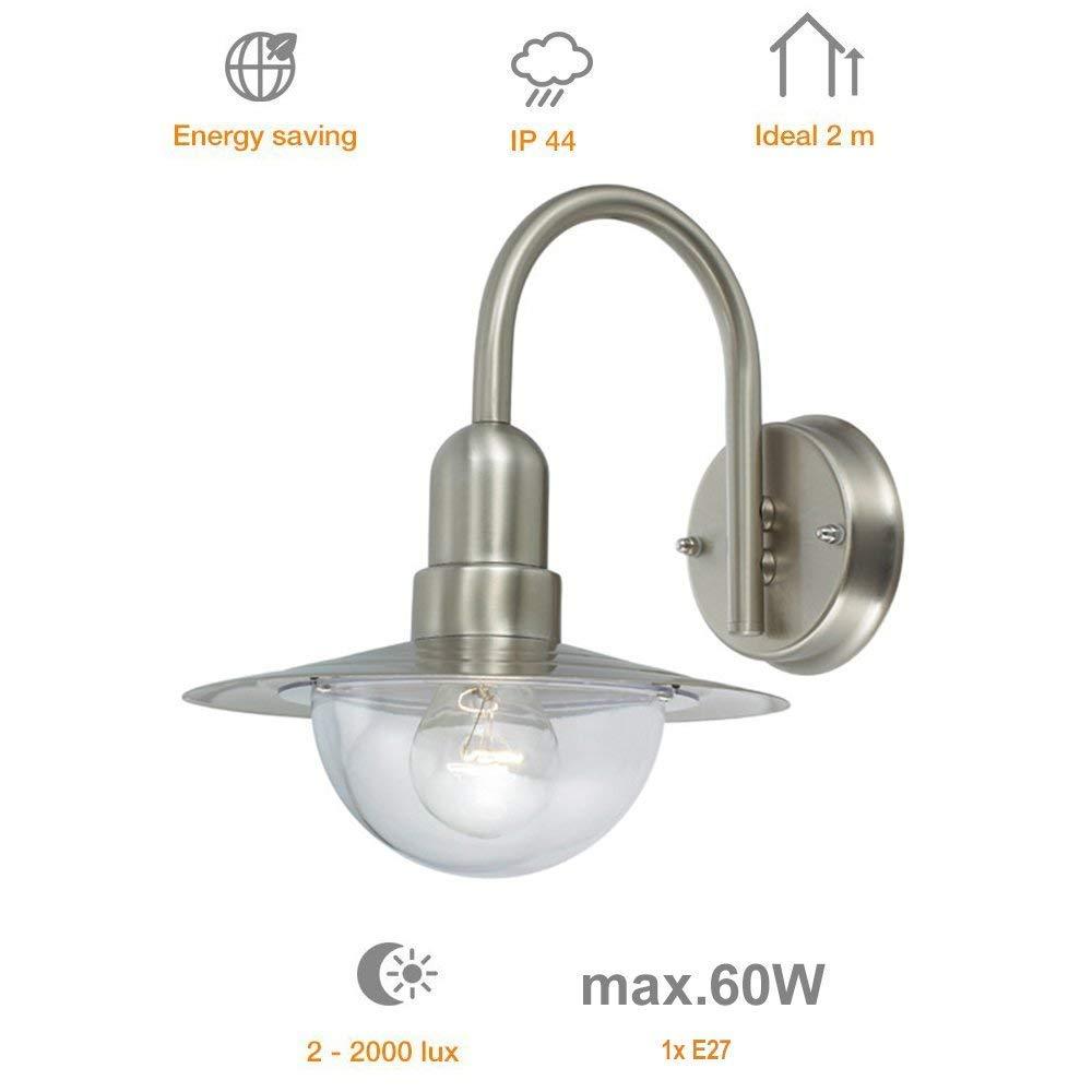 Wandlampe Calypso LED Edelstahl Wandleuchte Außenlampe Außenleuchte Lampe