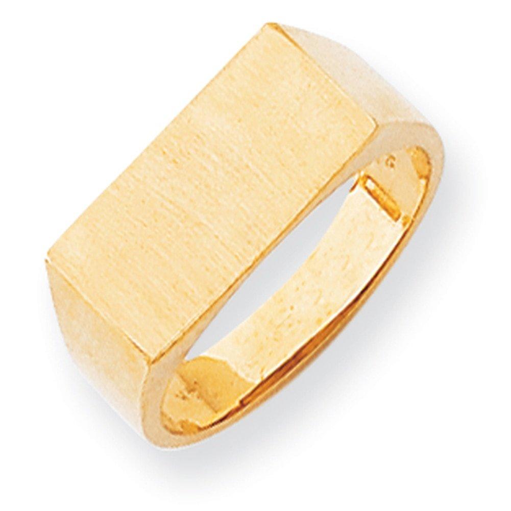 Lex /& Lu 14k Yellow Gold Mens Signet Ring LAL97607