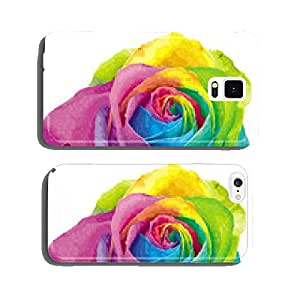 Rainbow color rose cell phone cover case Samsung S6