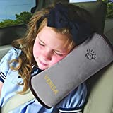 The Wolf Moon® Children Baby Safety Strap Soft Headrest Neck Support Pillow Shoulder Pad for Car Safety Seatbelt (gray)