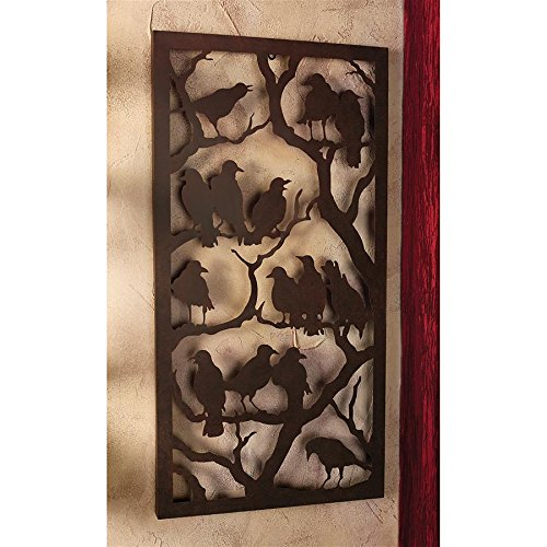 Design Toscano Night of the Ravens Metal Wall Sculpture -