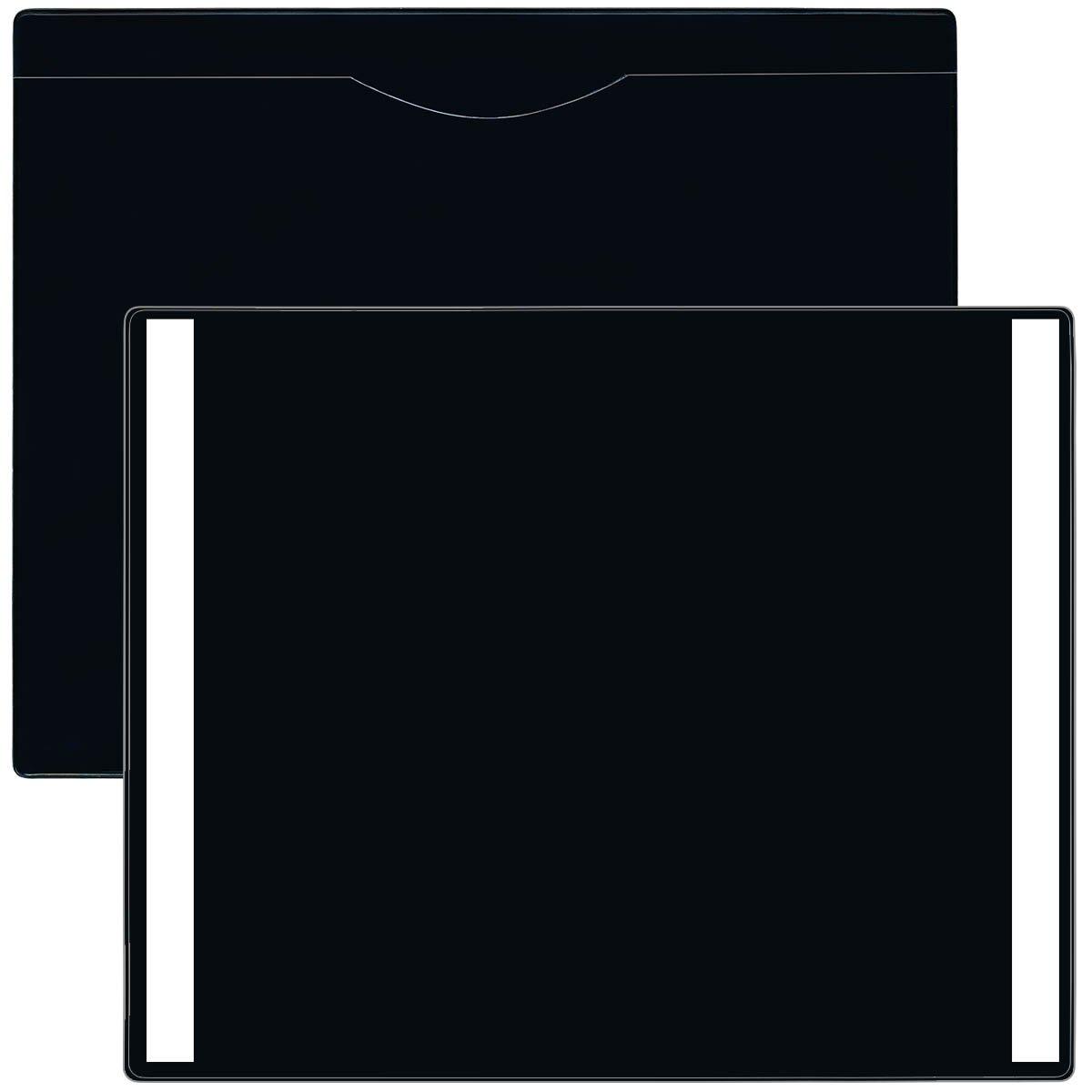 StoreSMART - Black File Jacket with Peel & Stick Reusable Back - 5-Pack - Plastic - Heavy Duty - FJ85PQBKPSR-5