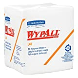 Kimberly-Clark Professional Wypall L40 Disposable Cleaning and Drying Towels (05600), Limited Use Wipers, White, 12 Packs per Case, 56 Sheets per Pack, 672 Sheets Total