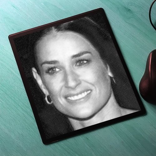 Seasons Demi Moore - Original Art Mouse Mat #js004