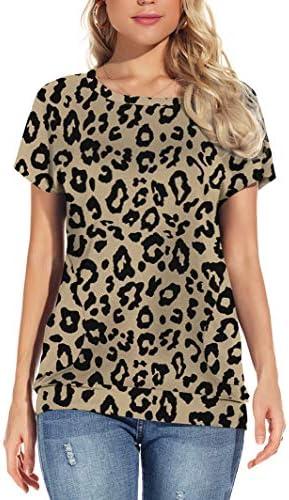 YSYOKOW Womens Summer Casual T Shirts Short Sleeve Tunic Loose Tops with Pockets