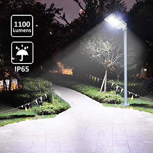 Solar Street Lights Outdoor Pole Mount Post Lamp 1100lm