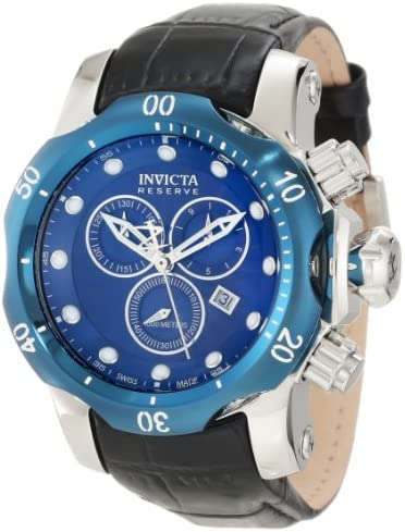 Invicta Men s 10821 Venon Reserve Chronograph Royal Blue Textured Dial Watch