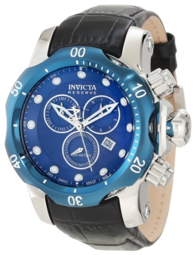 Invicta Men's 10821 Venon Reserve Chronograph Royal Blue Textured Dial Watch (Watch Dial Textured Blue)