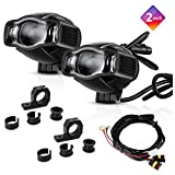 "TSIALEE 4"" 20W Motorcycle Fog Lights, LED Auxiliary Lights with Metal Brackets, Aluminum Casting Housing, Rugged Design for Off-Roads, Cruisers, ATVs (Pack of 2)"