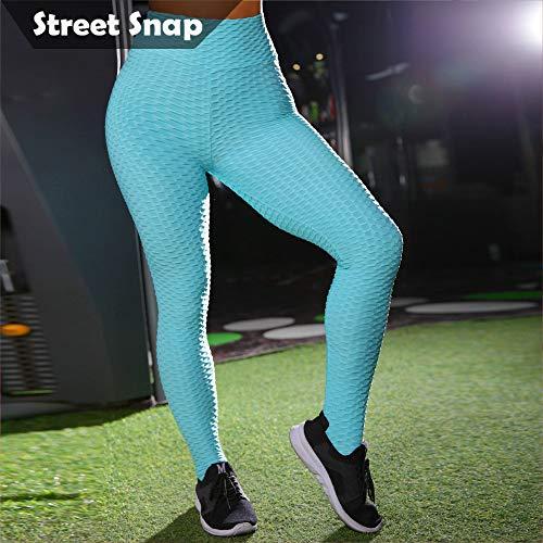 d4c5b68acbbe1a LIVEEX' Sexy Women's Booty Ruched Textured Leggings High Waist Yoga Pants  Brazilian Butt Lift Fitness