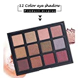 Eye shadow King WO Cosmetic Matte Eyeshadow Cream Eye Shadow Makeup Palette Shimmer Set 12 Color Beauty (B)