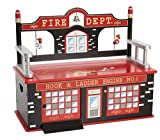 Wildkin Firefighter Toy Box Bench