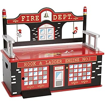 Amazon.com: Kidoozie Fire Engine Toy Box: Toys & Games