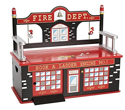 Superieur Wildkin Firefighter Toy Box Bench