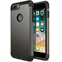 iPhone 8 Plus Case, Trianium Protanium Apple iPhone 8Plus Case (2017) with Heavy Duty Protection / Shock Absorption / Dual Layer TPU + Rigid Back Armor / Anti-Scratch / Reinforced Corner -Gunmetal