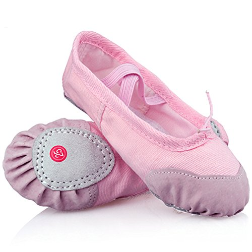 LONSOEN Ballet Slipper Shoes Split-Sole Dance Flat For Girls (Toddler/Little Kid/Big Kid)