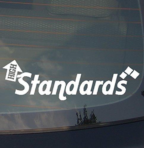 (High Standards Windshield Size JDM Decal Sticker Low Slammed Lit Race Drift Own The Avenue 19