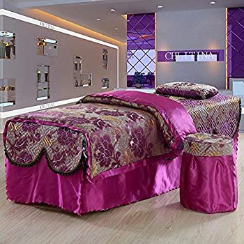 Image of Home and Kitchen ALHBNAY Premium Beauty Bed Cover 4 Piece, Massage Table Sheet Sets, Salon Body Fumigation Physiotherapy Valance Sheet (Include Quilt core)-I 80x190cm(31x75inch)