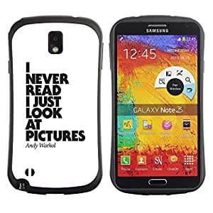 Fuerte Suave TPU GEL Caso Carcasa de Protección Funda para Samsung Note 3 N9000 N9002 N9005 / Business Style pictures never read funny poster text