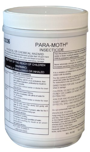 Para-Moth Wax Moth Control Canister, 1-Pound, storing honey supers for winter