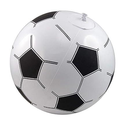 TRIXES Balón de Futbol Inflable- Diseño de Balón Fútbol (Soccer) - para Playa, Jardín o Piscina - Blanco y Negro