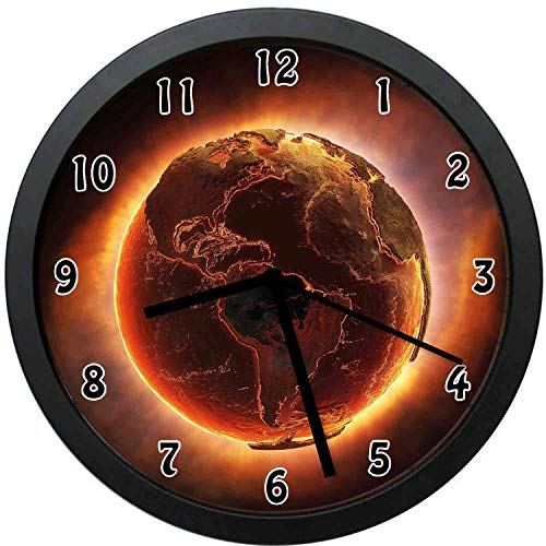 (Vivid Burning Eh Apocalypse Heat Global Warming Catastrophe Image-Decorative Wall Clock,12inch-The Best Gift)