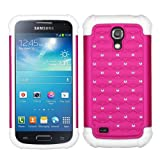 SAMSUNG GALAXY S4 MINI PINK WHITE DIAMOND BLING HYBRID COVER HARD GEL CASE from [ACCESSORY ARENA]