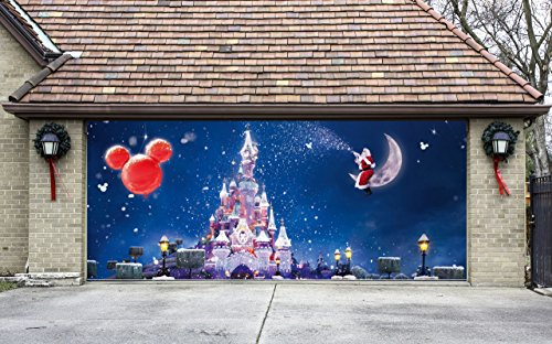 Christmas Garage Door Cover Santa Banners 3d Holiday Outside Decorations Outdoor Decor for Garage Door G67 by Best_WallDecals_For_You