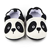 Save Beautiful Cute Cartoon Infant Unisex Baby Warm Cotton Anti-Slip Soft Sole First Walkers Shoes (12-18 Months, Panda)