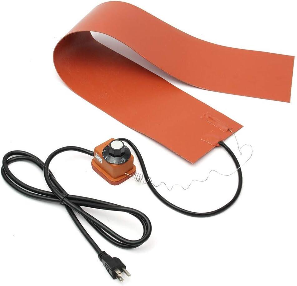 SHAND Mantas de calefacción de Caucho de Silicona de 1200 vatios y 220 voltios for doblado Lateral de Guitarra con Controlador 15x91.5 cm