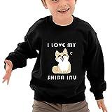 VHGJKGIN I Love My Shiba Inu Children's 100% Cotton Neck Long Sleeve New Jersey.