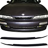 s14 headlight cover - Eyebrows Fits 1997-1998 Nissan 240SX S14 | Black Eyelids Paintable Surface By IKON MOTORSPORTS