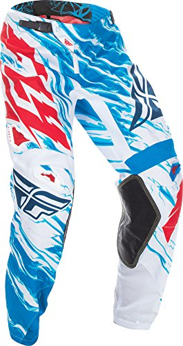 Fly Racing Unisex-Adult Kinetic Relapse Pants (Red/White/Blue, Size 38)