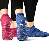 Best Barre Socks - LA Active Grip Socks-2 Pairs-Yoga Pilates Barre Ballet Review