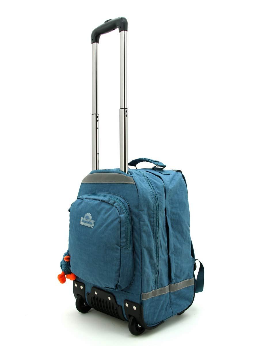 Kiwiwho CA8018 Bolsa Escolar, 46 cm, Azul (Jeans)