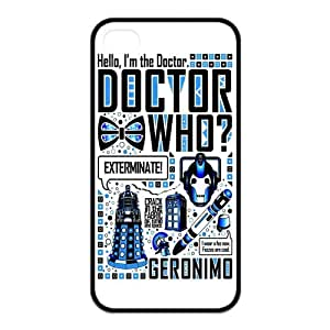 iPhone 4/4S Case, Dr.Who Quotes Hard TPU Rubber Snap-on Case for iPhone 4 / 4S