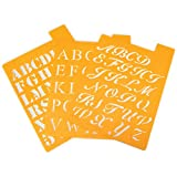Darice plastic alphabet stencil is a great tool for painting beautiful letters on many surfaces. This stencil contains upper case 3 in 1 font.