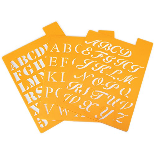Darice 121725 Alphabet Stencil 1 Inch product image