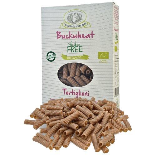 rustichella d'abruzzo Organic Gluten Free Buckwheat Tortiglioni, 8.8 Ounce (Pack of 3) by Rustichella d'Abruzzo