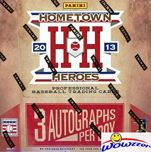 - 2013 Panini Hometown Heroes Baseball MASSIVE Factory Sealed HOBBY Box with THREE(3) AUTOGRAPHS & 288 Cards! Look for AUTOS of Cal Ripken, Manny Machado, Stanton, Mariano Rivera & Many More! WOWZZER!