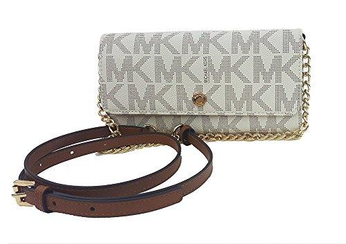 Michael Kors Jet Set Travel Wallet on a Chain Vanilla (#35F6GTVC9B)