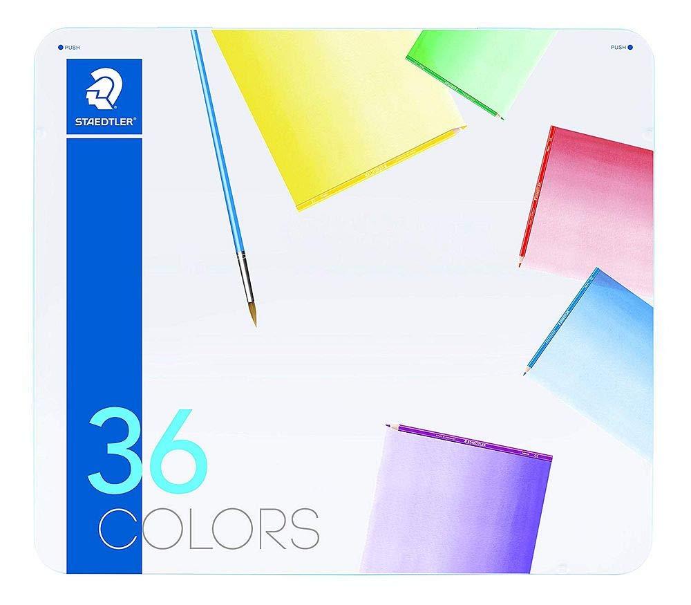 ステッドラー 色鉛筆 ノリスクラブ 水彩 メタルケース 36色セット 145 10M36 【まとめ買い3個セット】 B07P2HTC2R
