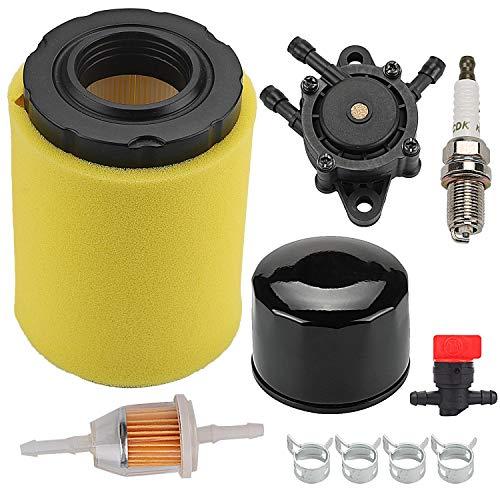 Hilom 796031 MIU14395 Air Filter for John Deere D100 D105 D110 D130 D140 D160 D170 D125 L105 L107 LA135 Lawn Mower Tractor Briggs & Stratton 591334 594201 with Fuel Pump Fuel Filter